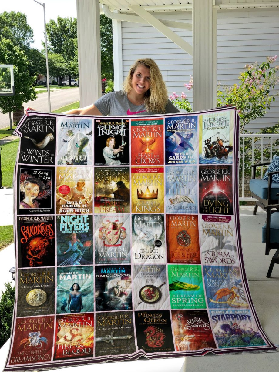 George R.R. Martin Books Style 2 Quilt Blanket