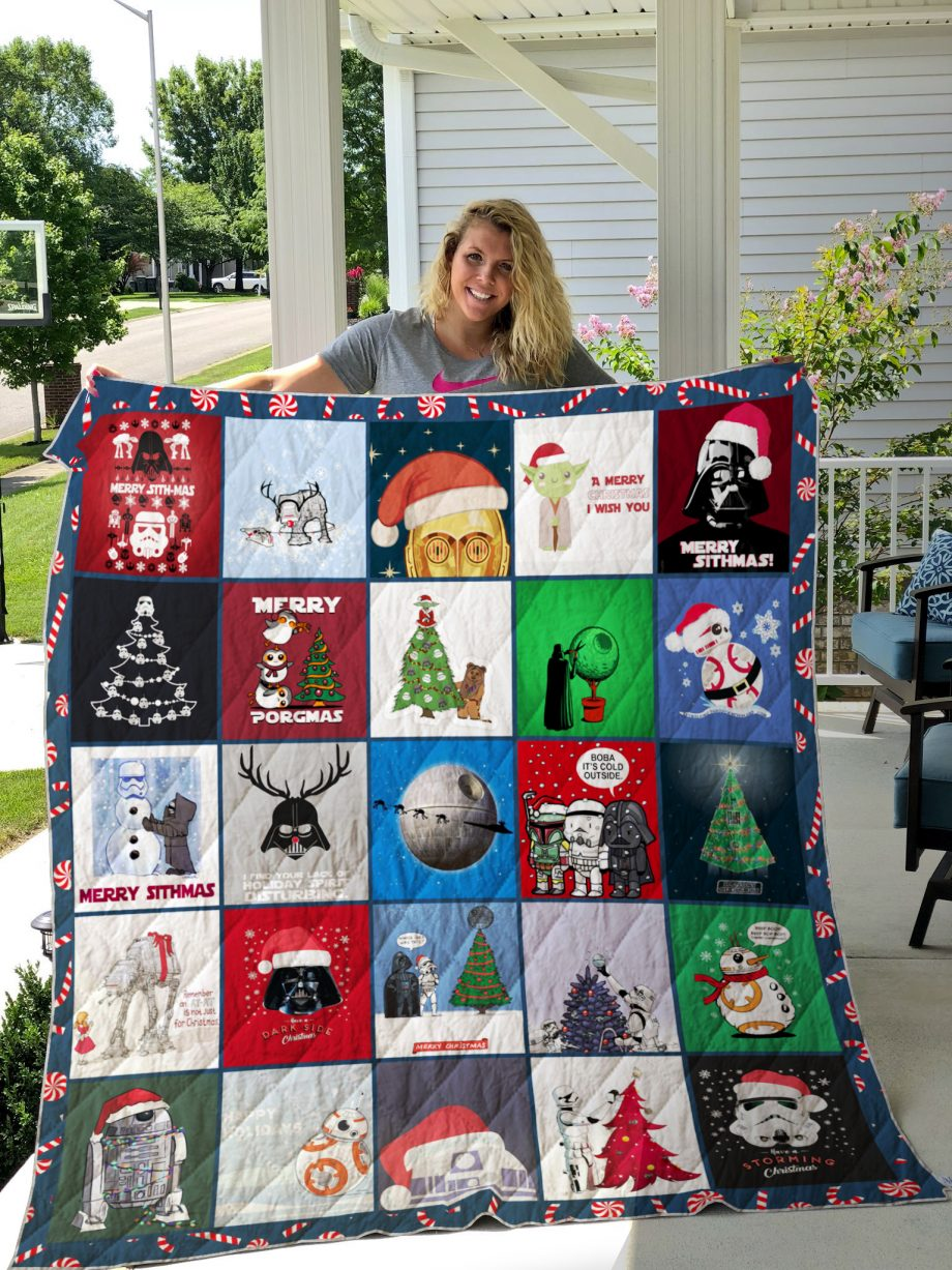Star Wars Christmas Style 2 Quilt Blanket