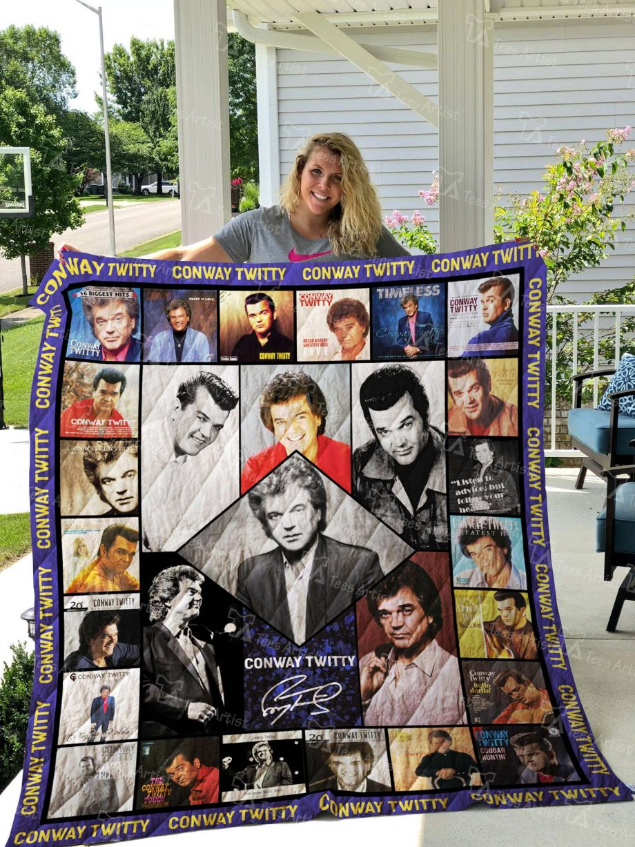 Conway Twitty Quilt Blanket 02714