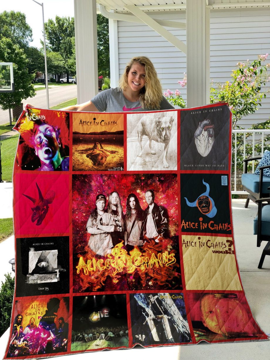 Alice In Chains Style 2 Album Covers Quilt Blanket