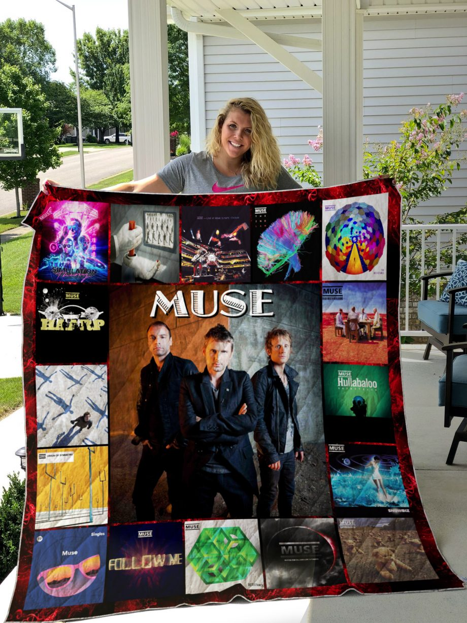 Muse Style 2 Album Covers Quilt Blanket
