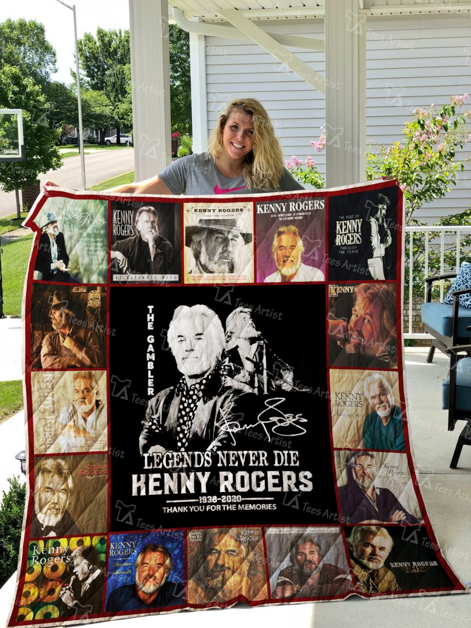 Kenny Rogers Signature Quilt Blanket 02371