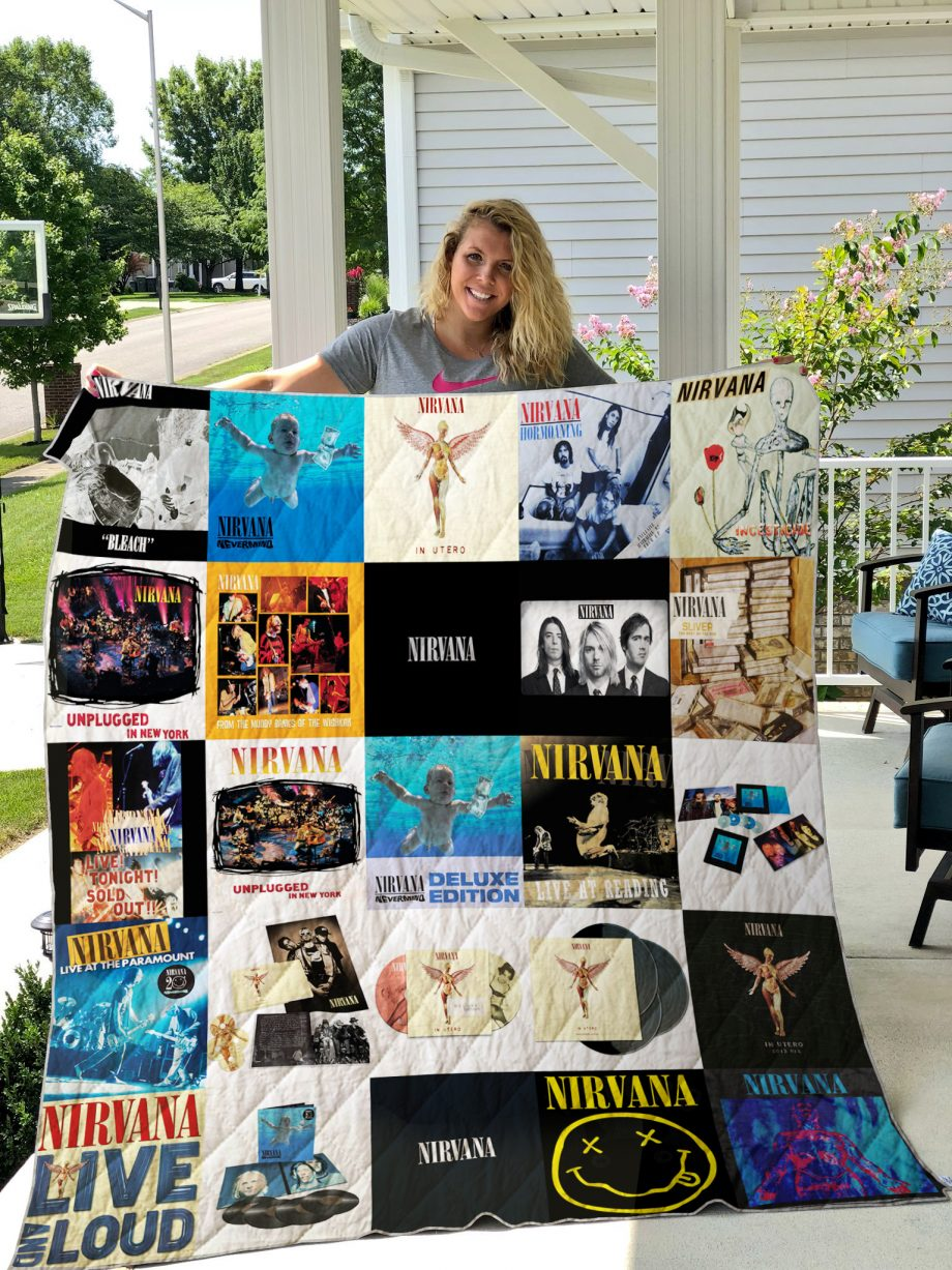 Nirvana Style 2 Album Covers Quilt Blanket