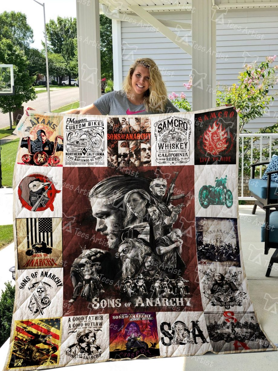M KP8211 Sons of Anarchy Quilt Blanket 01797
