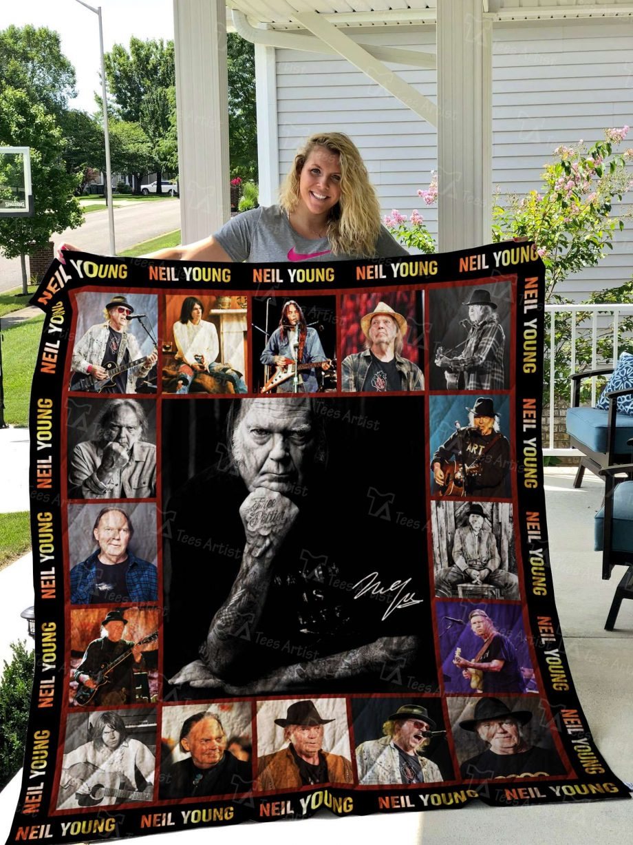 Neil Young Quilt Blanket 02571