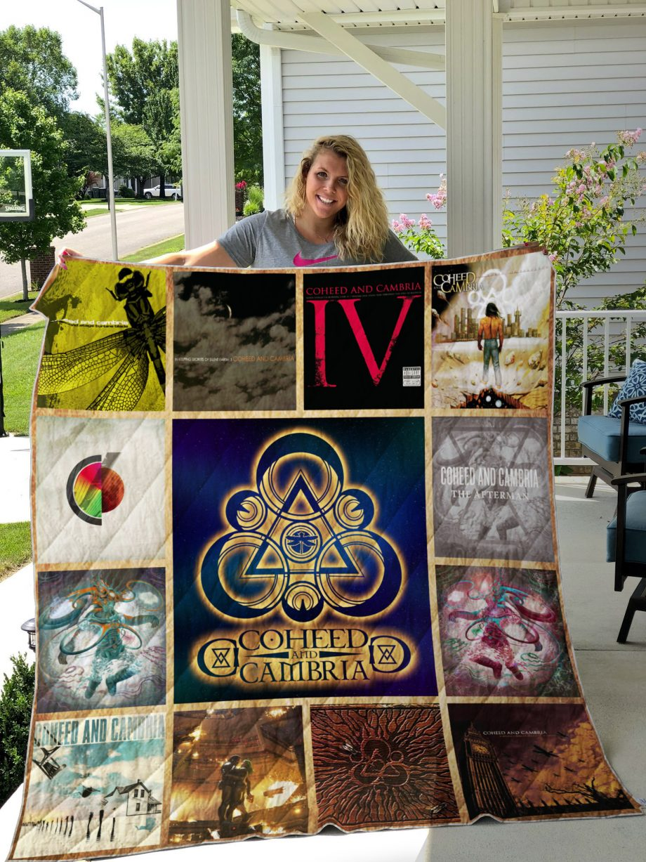 Coheed And Cambria Style 3 Album Covers Quilt Blanket