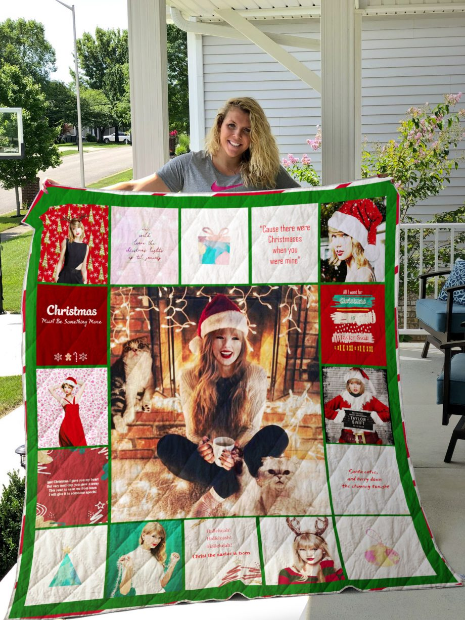 Taylor Swift Christmas Quilt Blanket