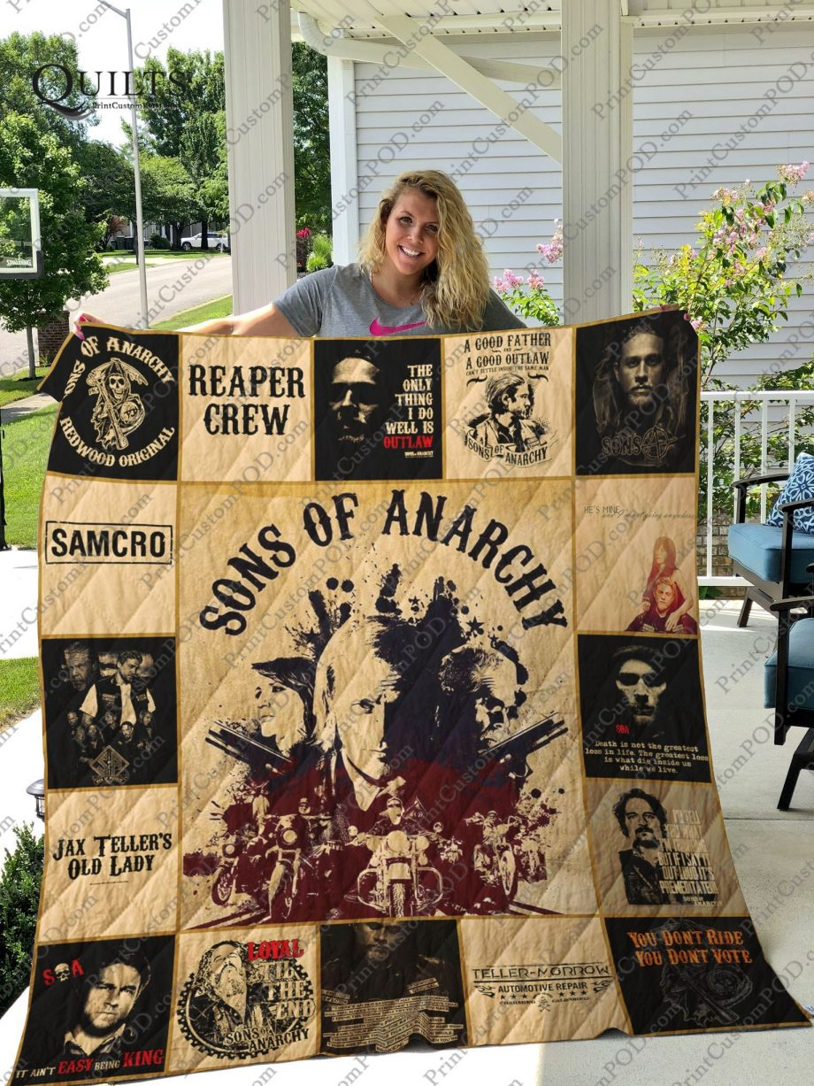 M- Sons of Anarchy T-shirt Quilt For Fans