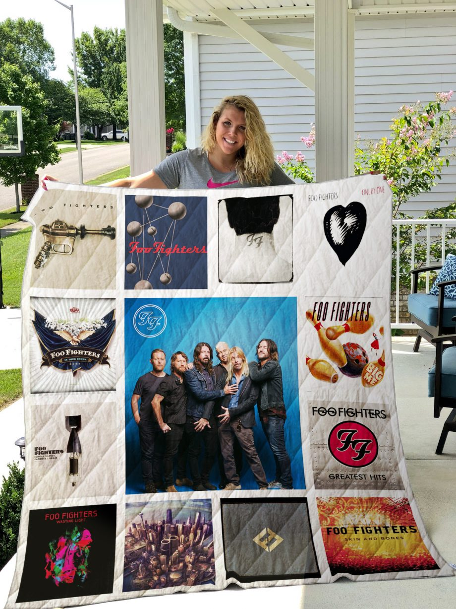 Foo Fighters Style 2 Album Covers Quilt Blanket