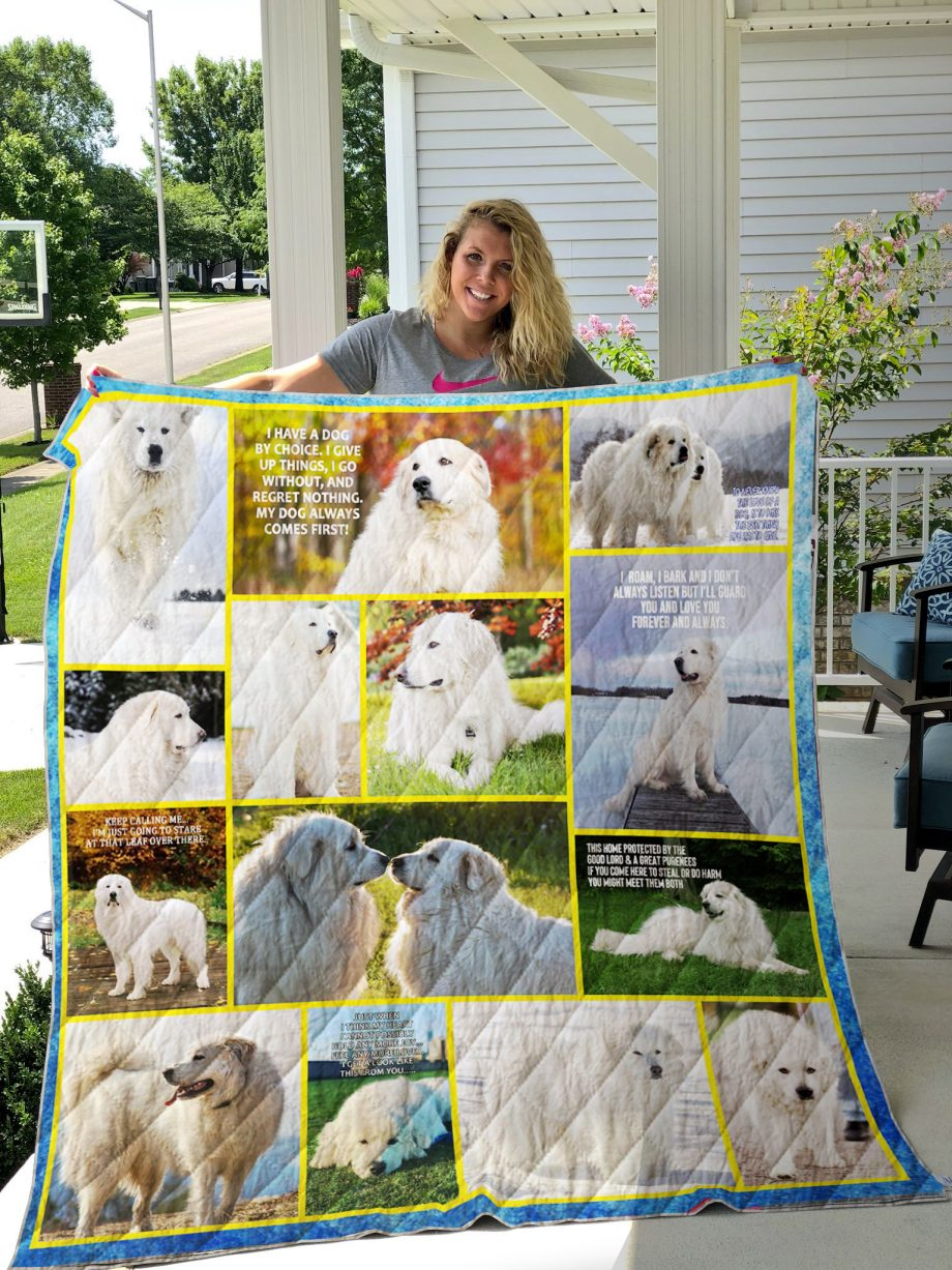 Great Pyrenees Quilt Blanket