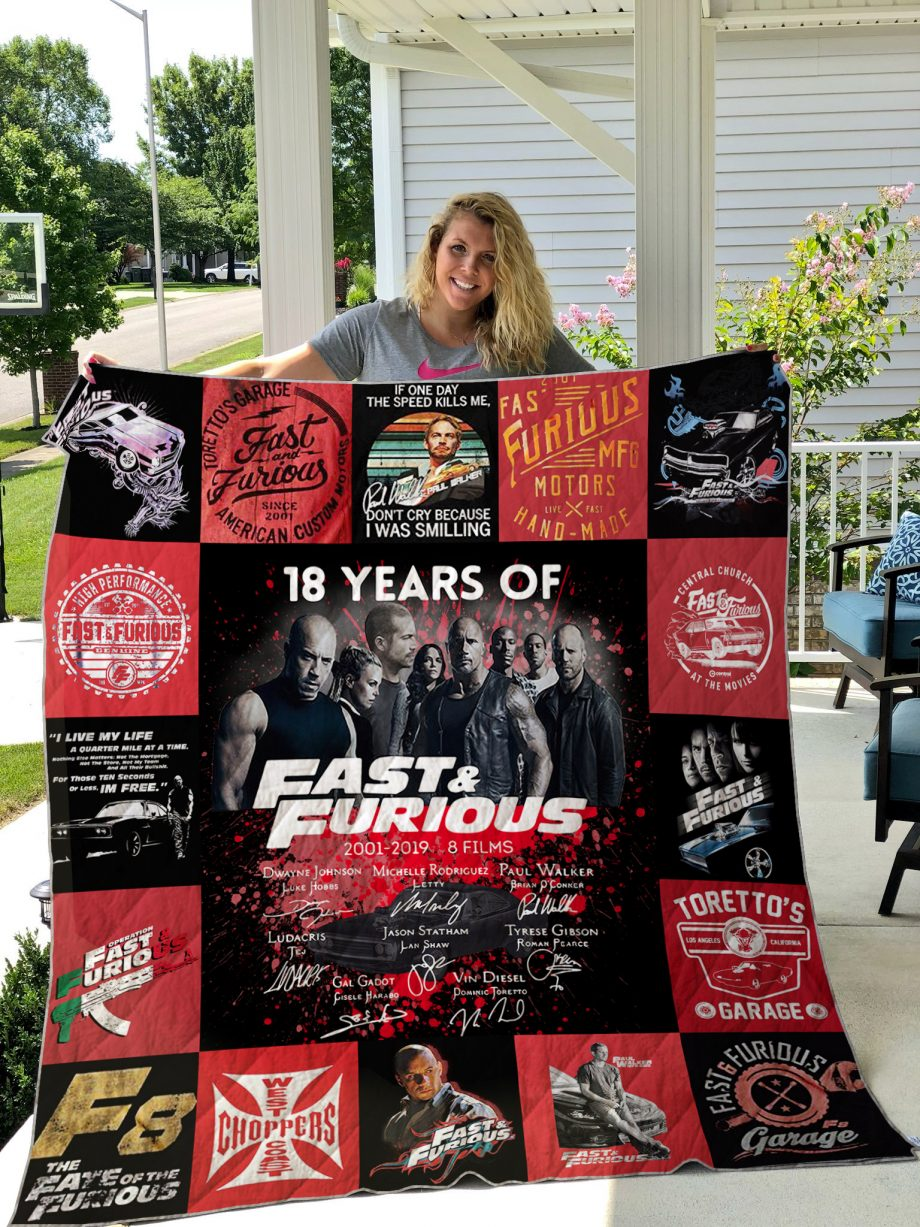 Fast &amp Farious Quilt Blanket