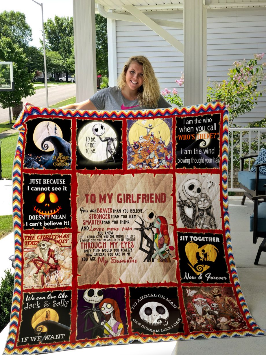 The nightmare before Christmas style 3 Quilt Blanket