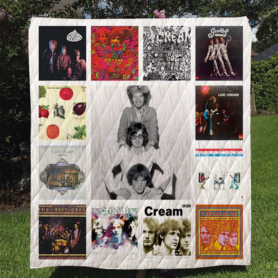 The Cream Band Quilt Blanket