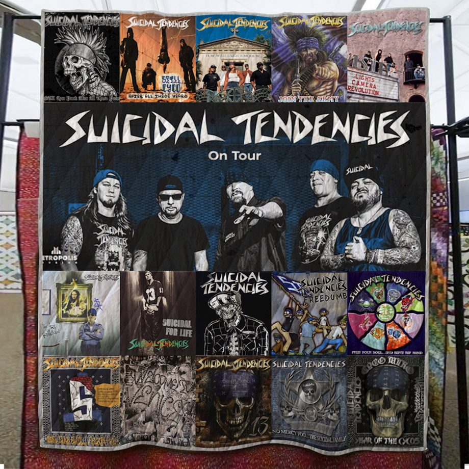Suicidal Tendencies Quilt Blanket
