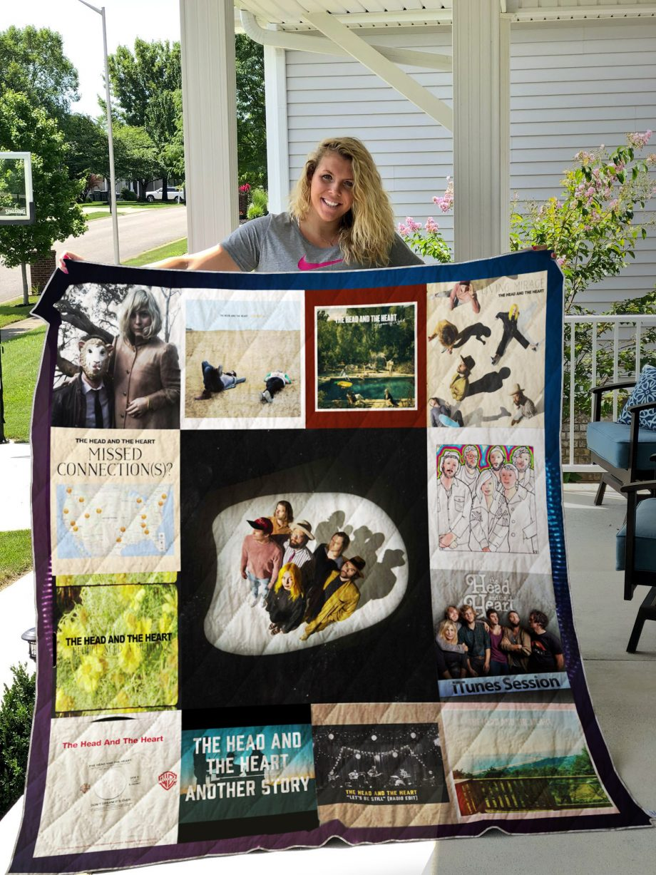 The Head and the Heart Quilt Blanket