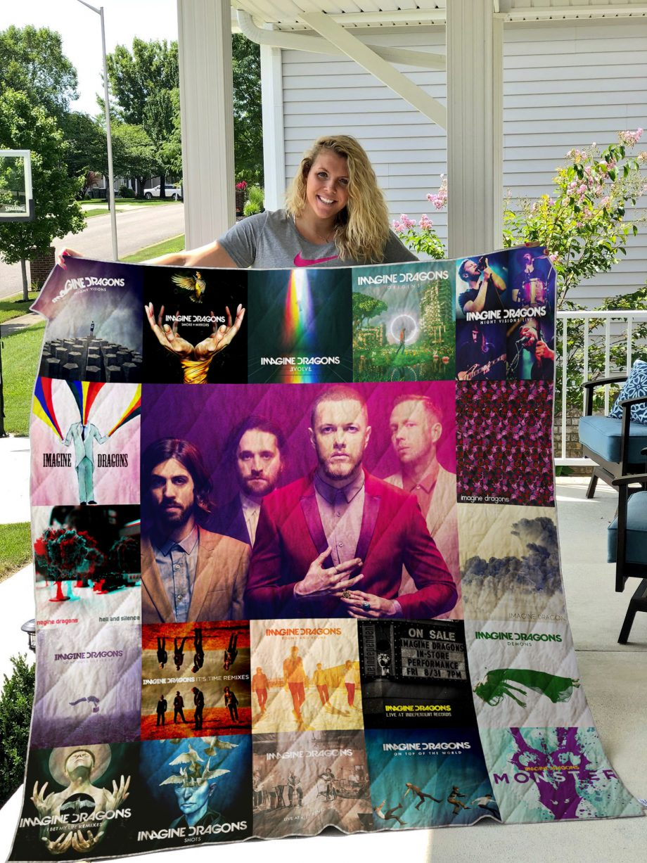 Imagine Dragons Style Two Quilt Blanket