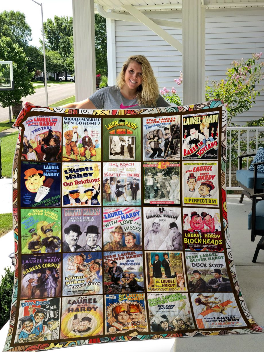 Laurel and Hardy Quilt Blanket