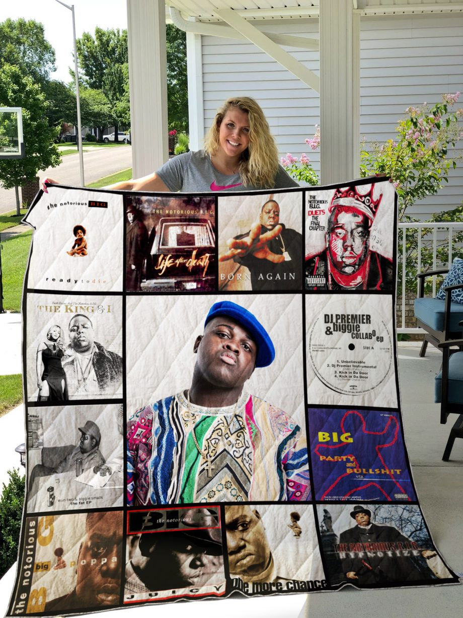 The Notorious B.I.G Style 2 Quilt Blanket