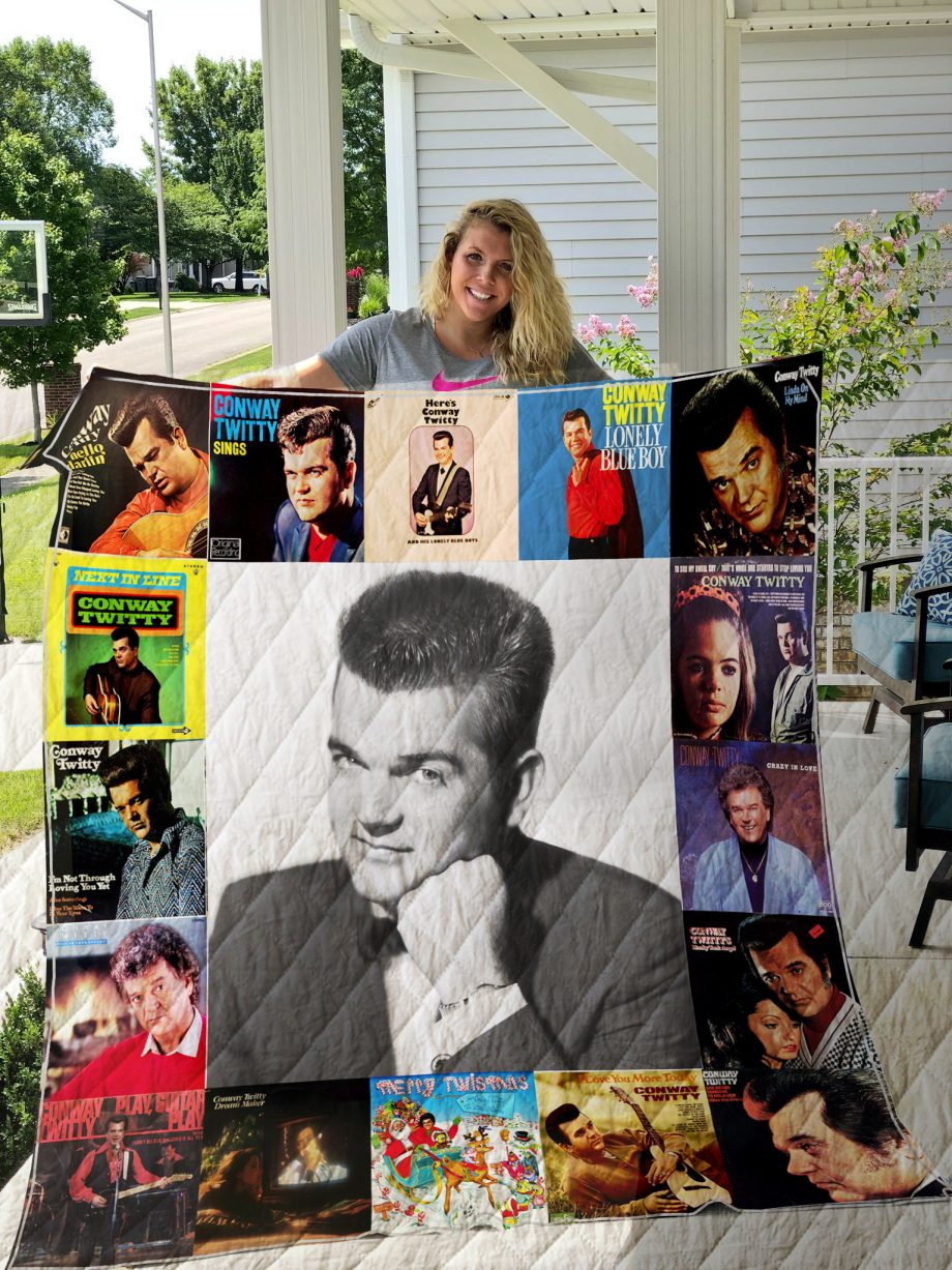 Conway Twitty Style Three Quilt Blanket