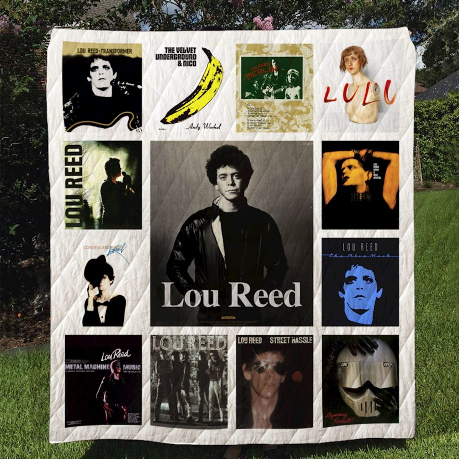 Lou Reed  Quilt Blanket