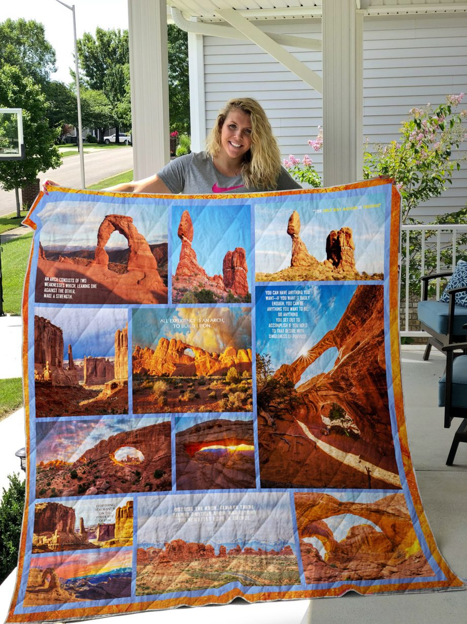 Arches National Park Quilt Blanket