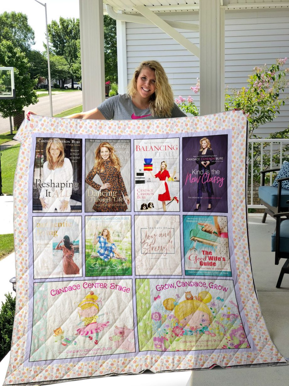 Candace Cameron Bure Books Quilt Blanket