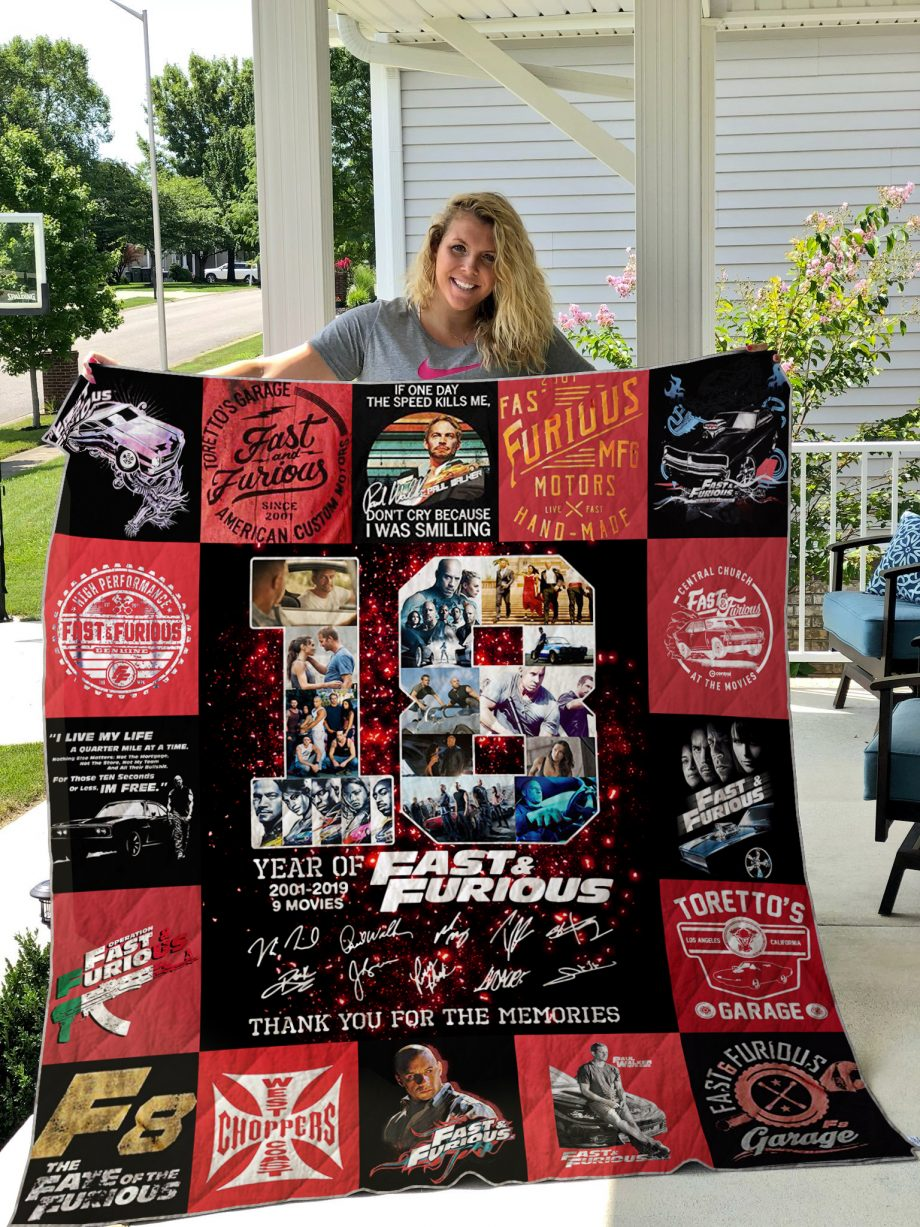 Fast &amp Farious Style 3 Quilt Blanket