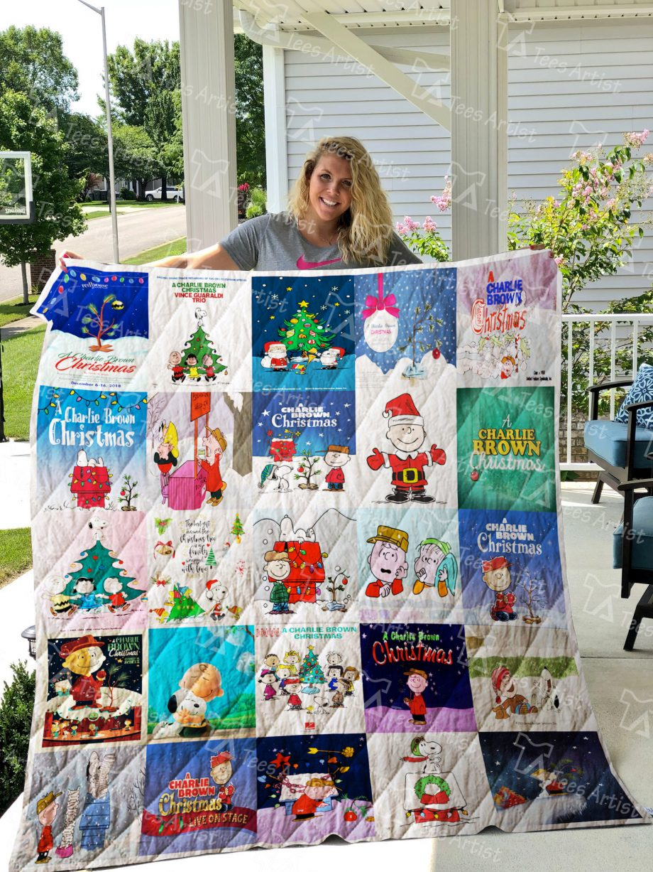 A Charlie Brown Christmas Quilt Blanket 0843