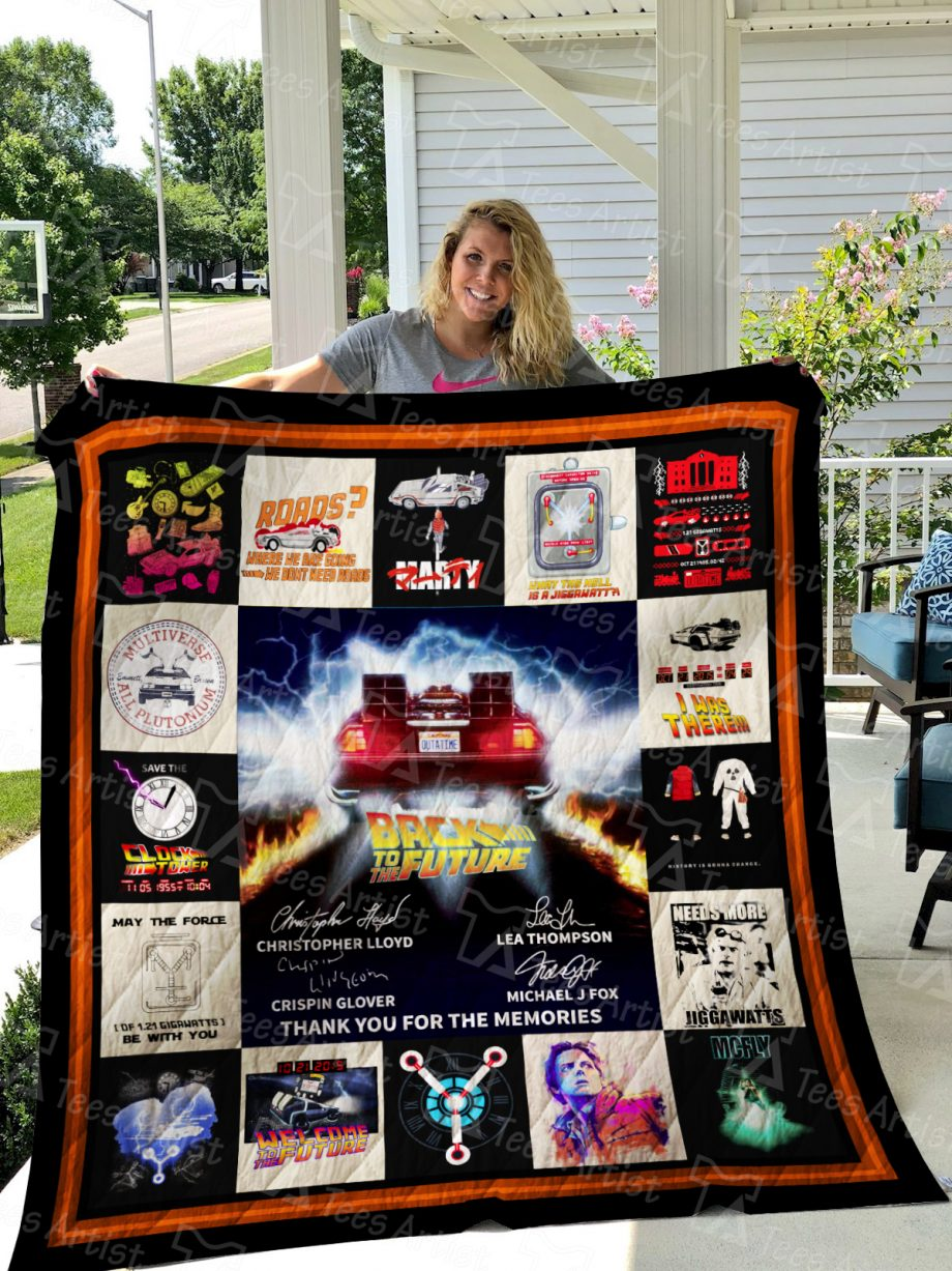 Back to the Future Quilt Blanket 01545