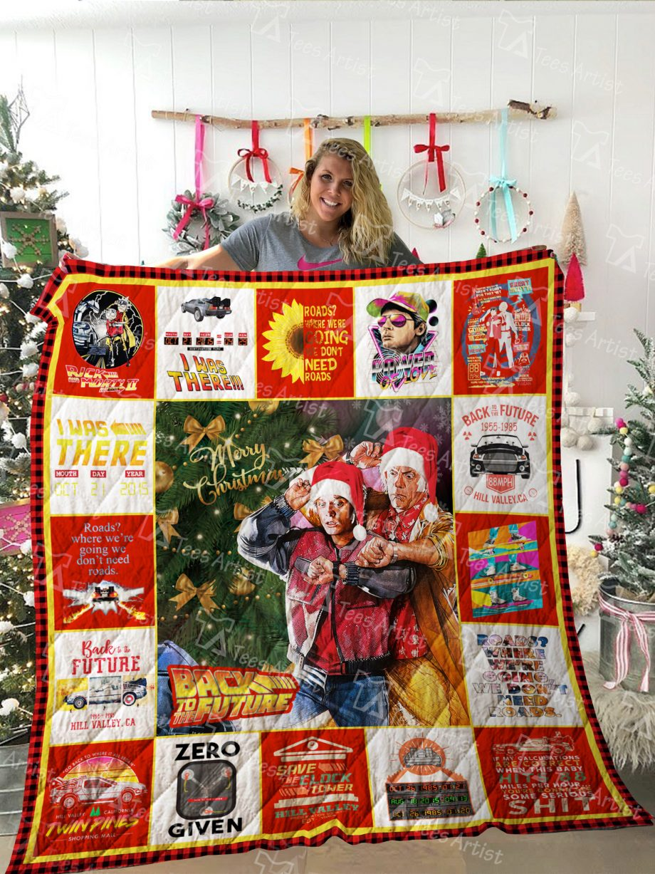 Back To The Future Quilt Blanket 02175