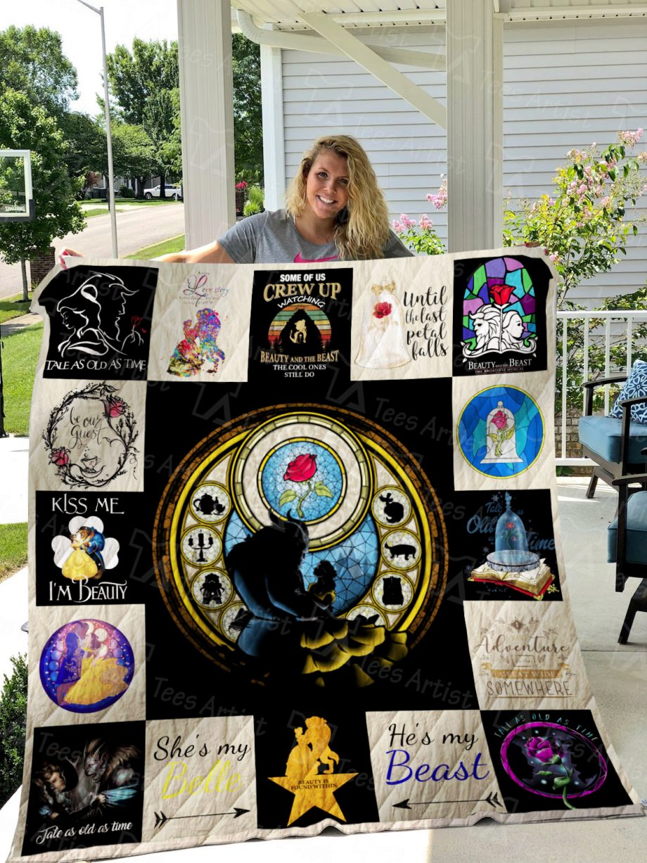 Beauty and the Beast Quilt Blanket 01183