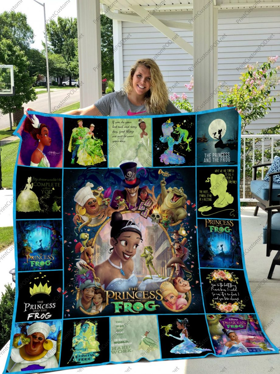 H KP8211 The Princess and the Frog Quilt Blanket