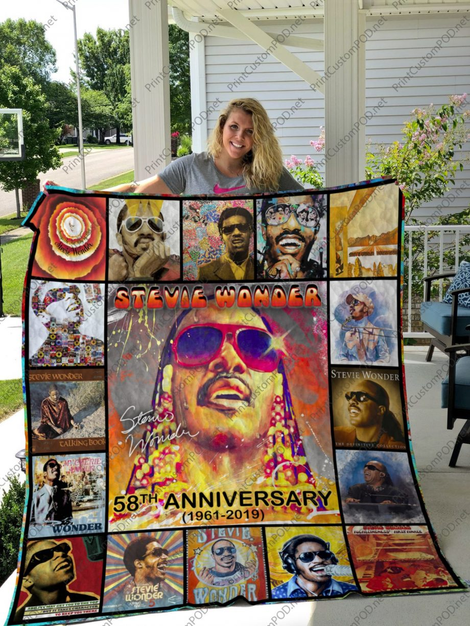 H -Stevie Wonder Quilt Blanket