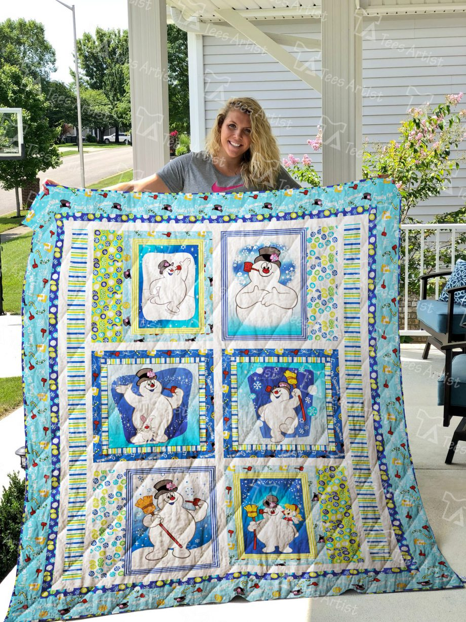 Frosty The Snowman Quilt Blanket 01428