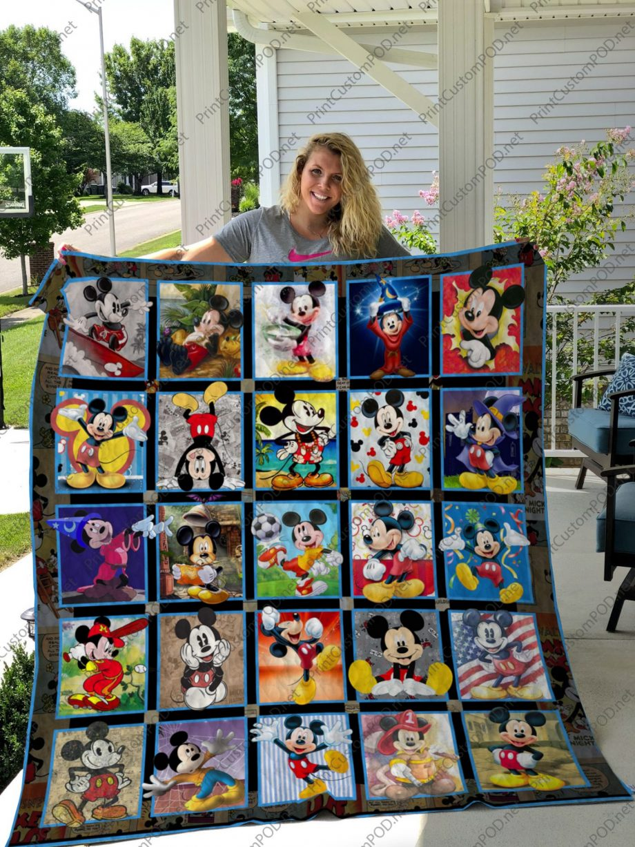 H  KP8211 Mickey Mouse layout 1  Quilt Blanket For Fan