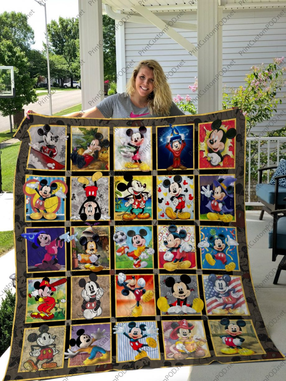 H  KP8211 Mickey Mouse layout 2  Quilt Blanket For Fan