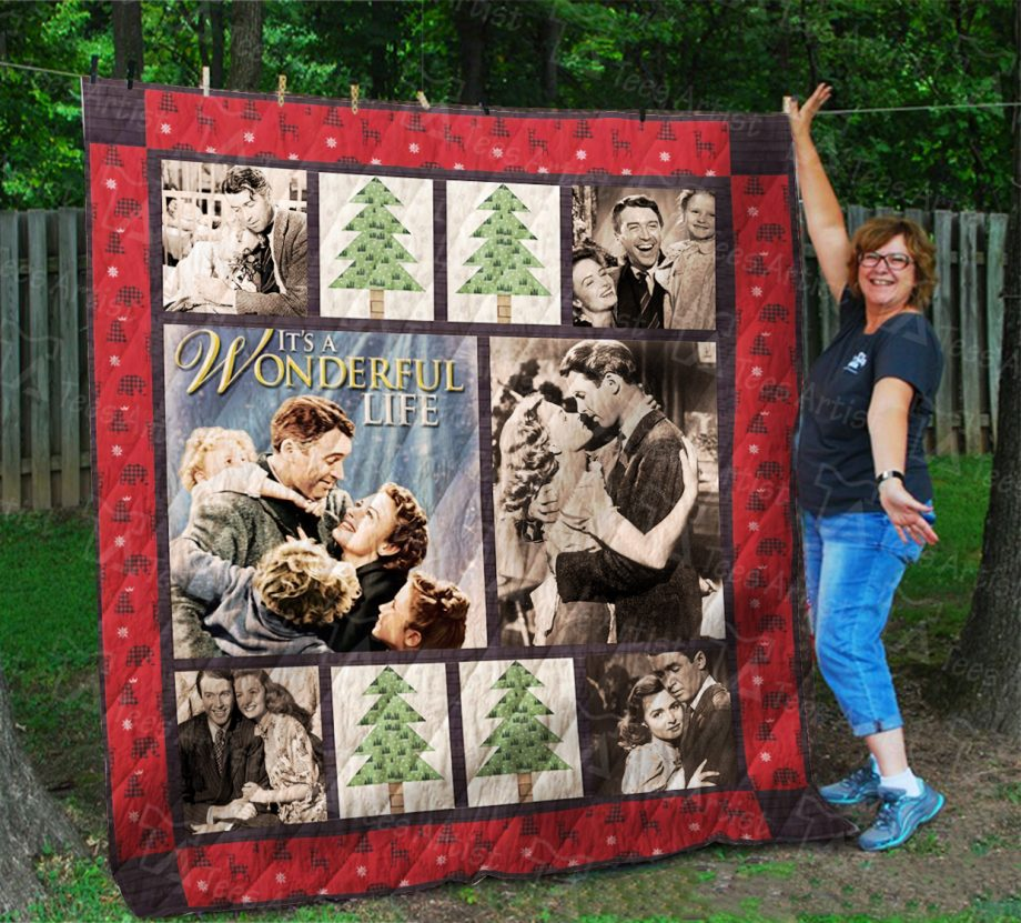 Its A Wonderful Life Quilt Blanket 01898