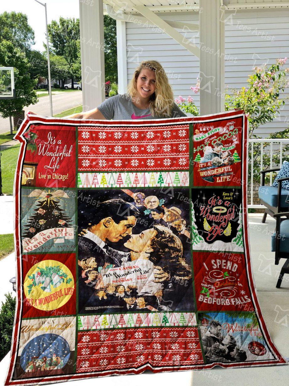 Its A Wonderful Life Quilt Blanket 01901