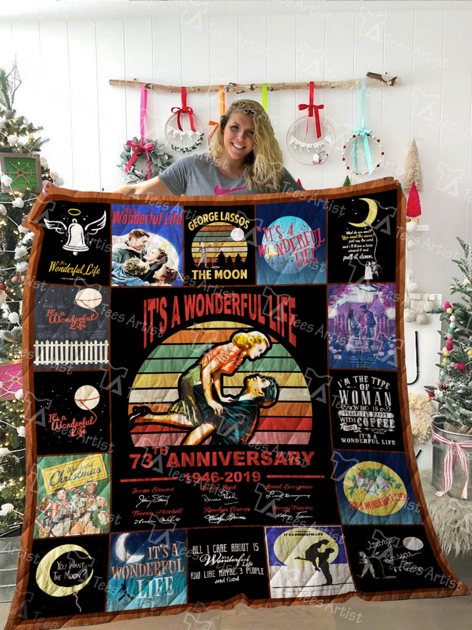 ItKP8217s a Wonderful Life Quilt Blanket 02269