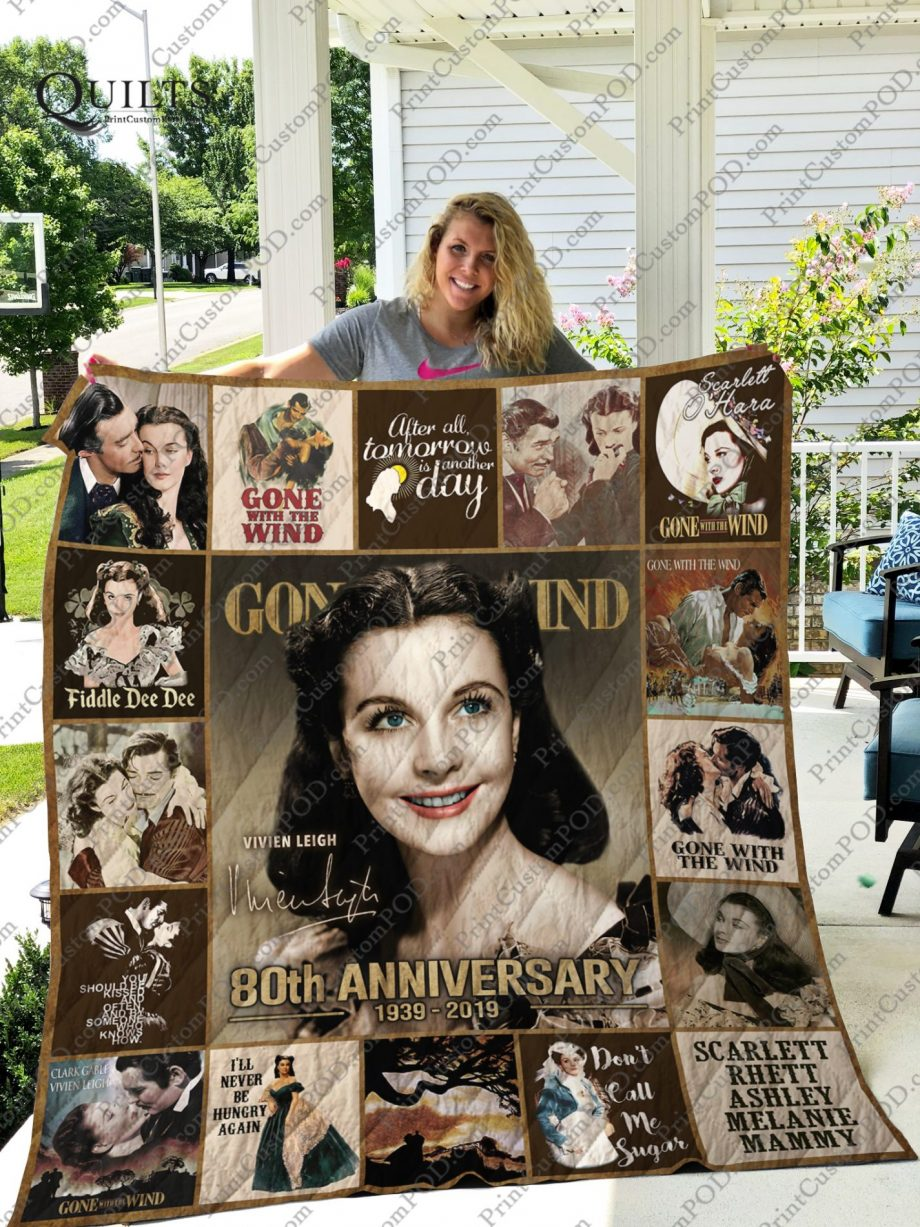 Mofi-Gone with the wind Quilt Blanket
