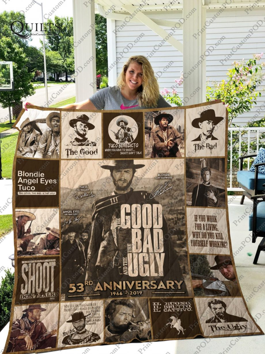 Mofi-The Good, The Bad &amp The Ugly Quilt Blanket