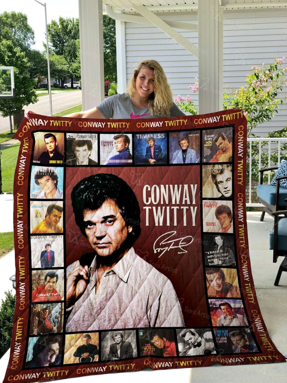 Conway Twitty Quilt Blanket 02536