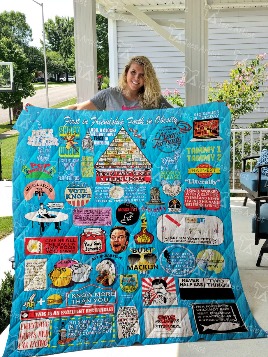 Parks And Recreation Quilt Blanket 01234
