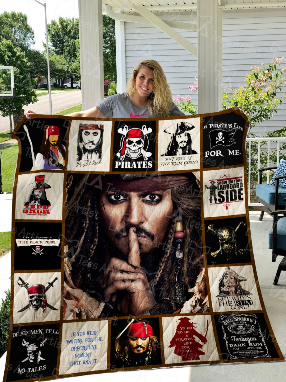 Pirates of the Caribbean Quilt Blanket 01307