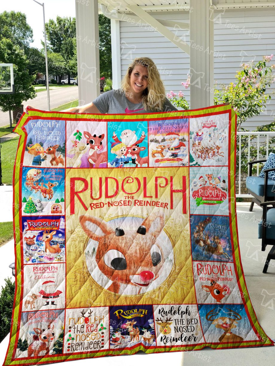 Rudolph the Red-Nosed Reindeer Quilt Blanket 01895
