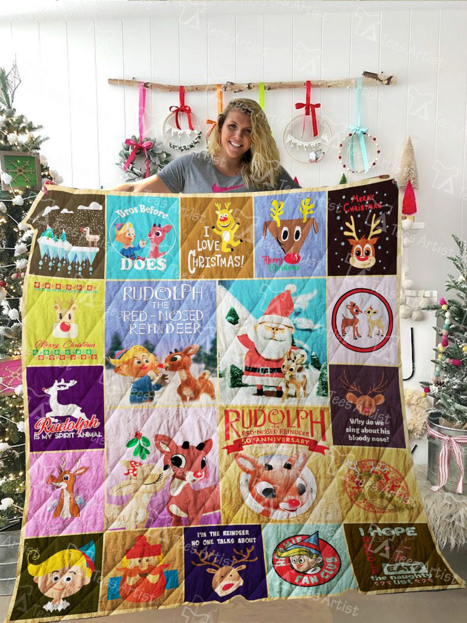 Rudolph the Red-Nosed Reindeer Quilt Blanket 02271