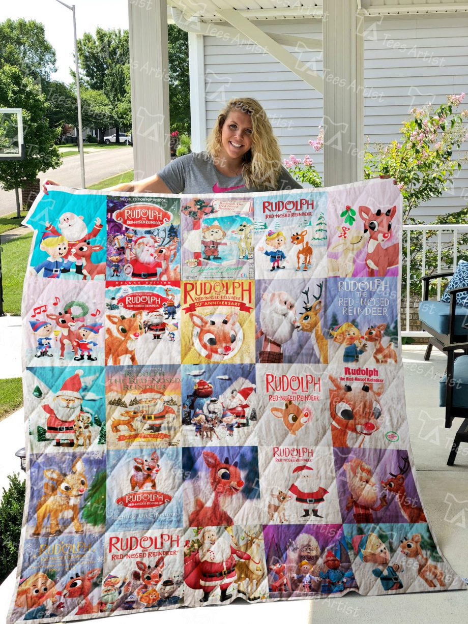 Rudolph the Red-Nosed Reindeer Quilt Blanket 0845