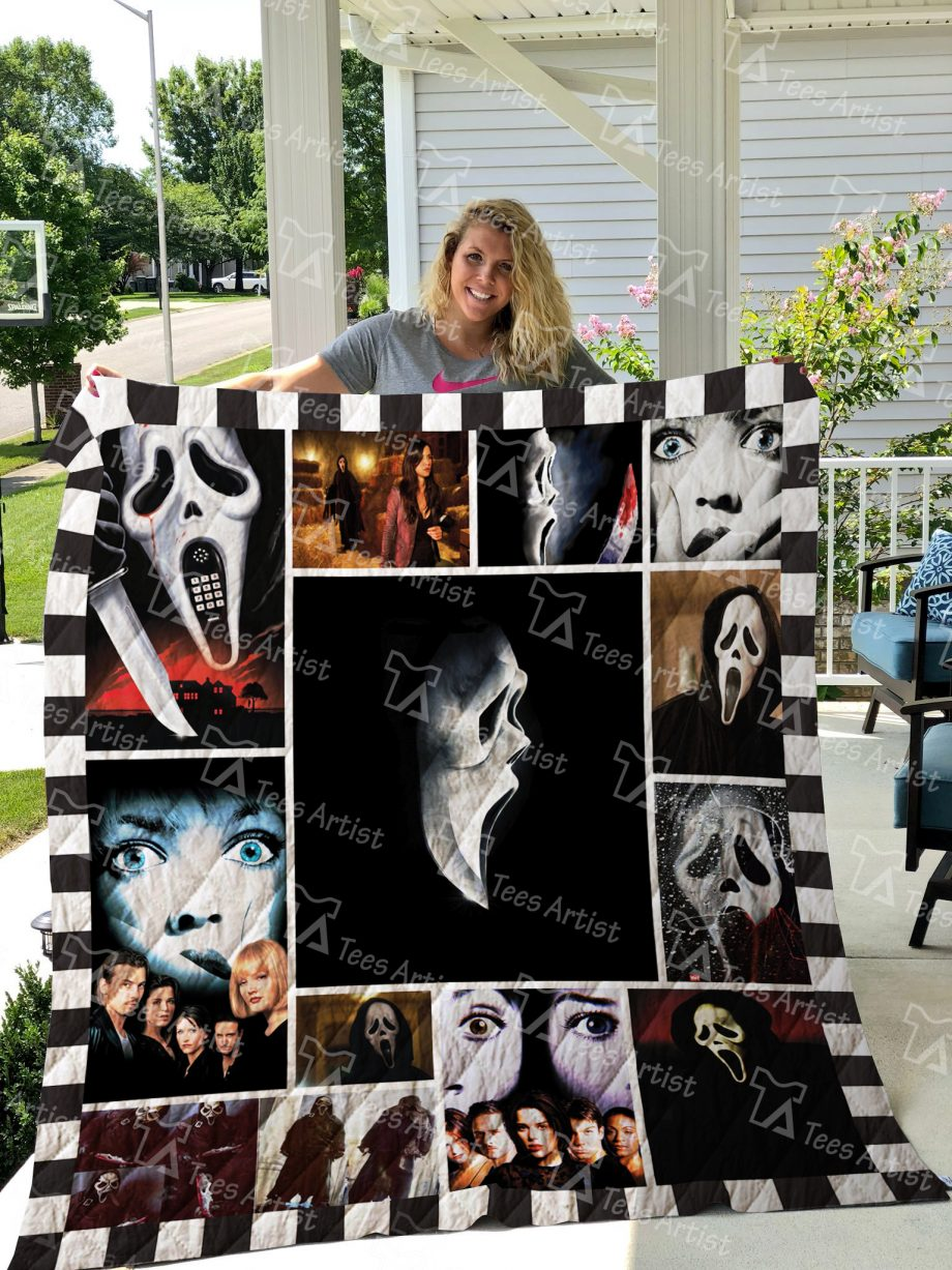 Scream Mask Quilt Blanket 01532