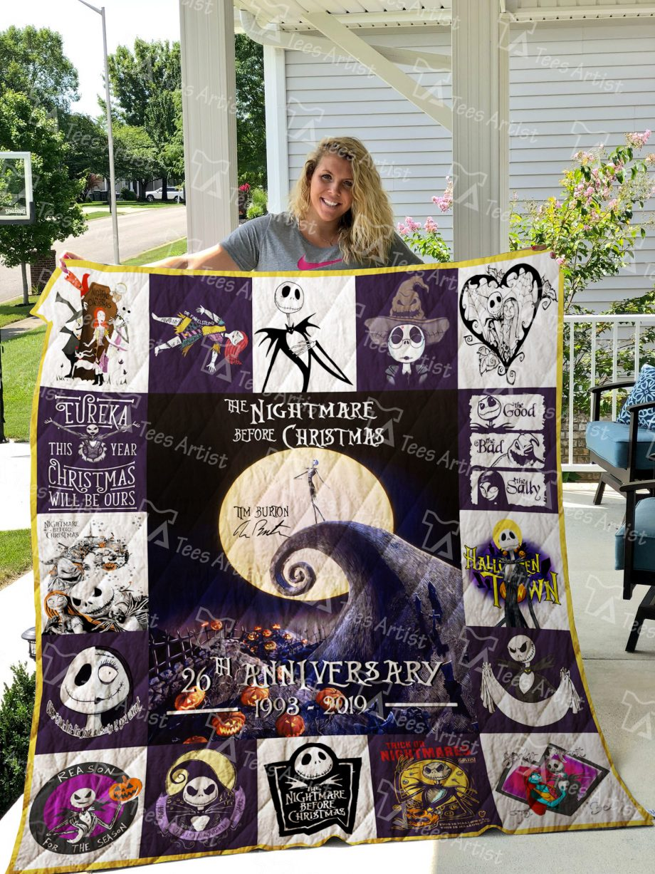 The Nightmare Before Christmas Quilt Blanket 01514