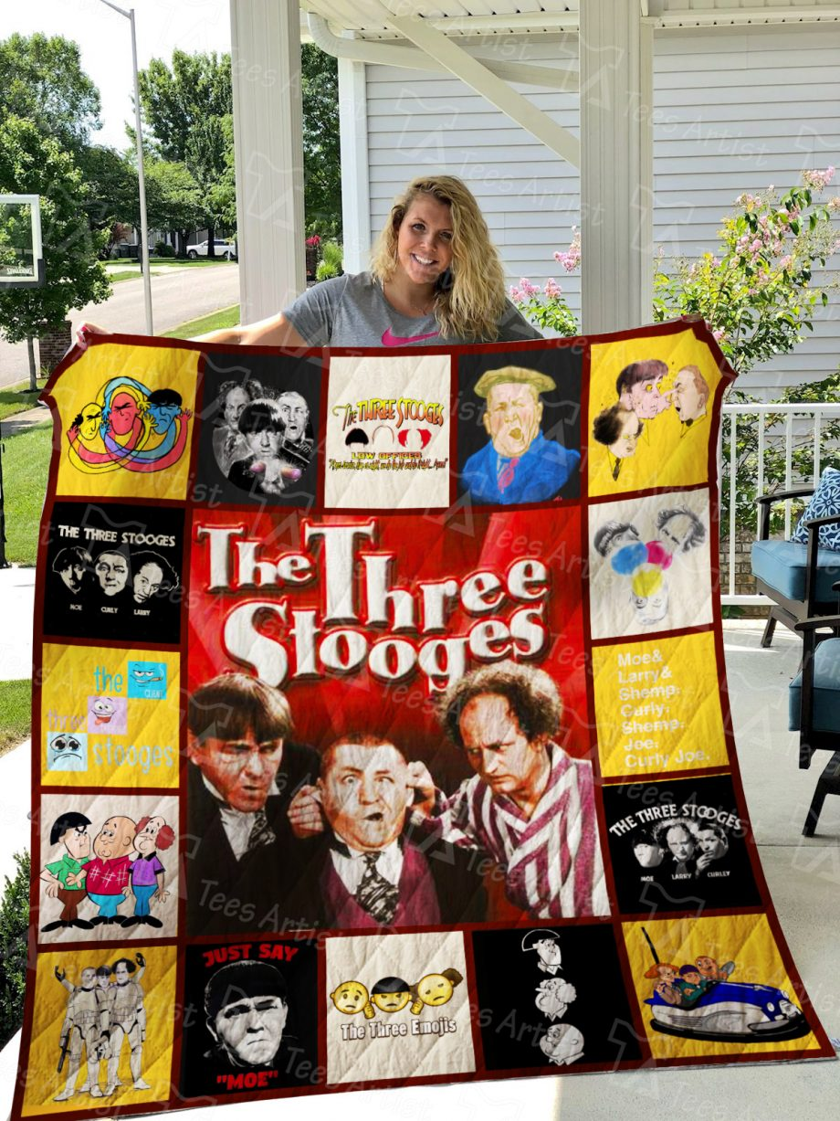 Three Stooges Quilt Blanket 01266